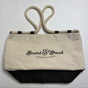 NWOT Board & Brush Creative Studio Canvas Tote Bag